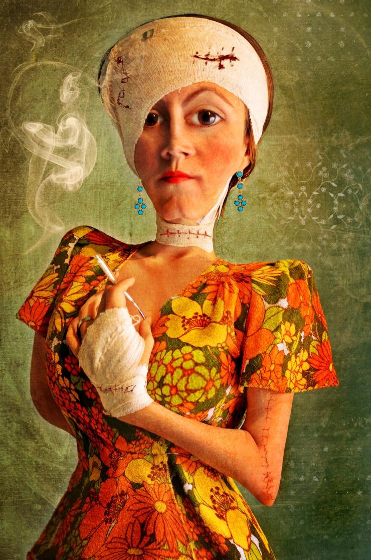 Madame-Papilloma-Surreal Portrait by Cristina Schek