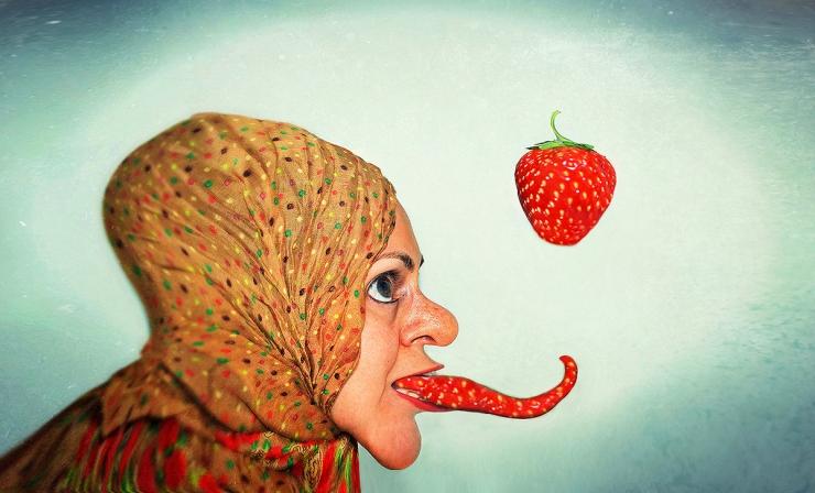 Strawbewitch-Surreal Portrait by Cristina Schek
