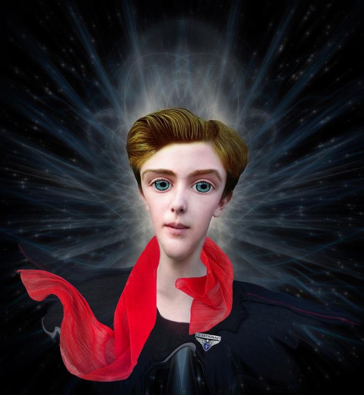 The-Space-Sailor-Surreal Portrait by Cristina Schek