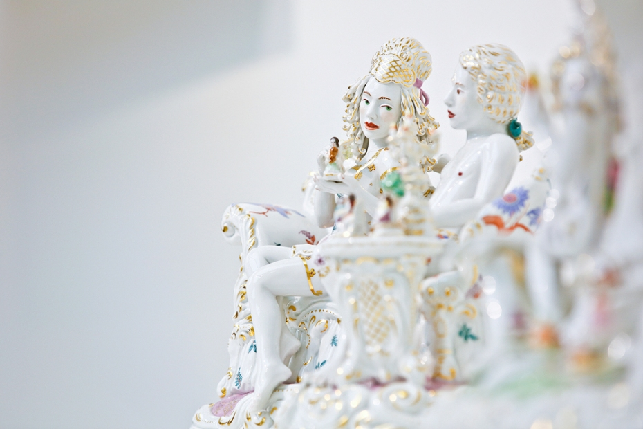 Chris Antemann MEISSEN COUTURE® Art Collection at COLLECT15, photo © Cristina Schek