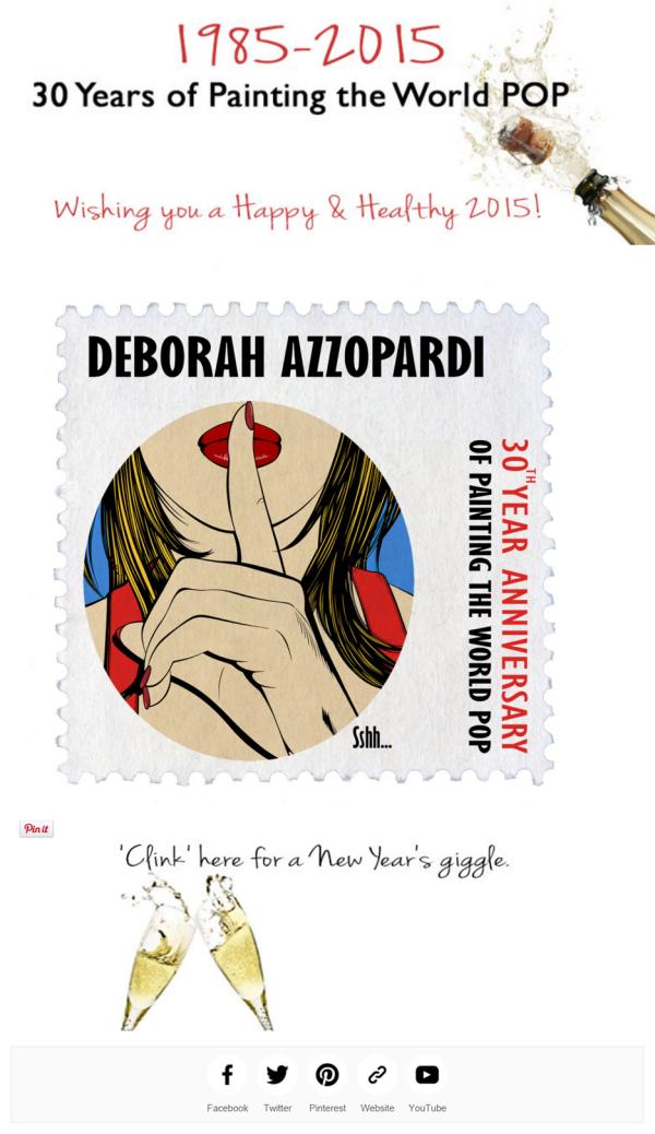 31December2014- Deborah Azzopardi Newsletter, Newsletter design by Cristina Schek