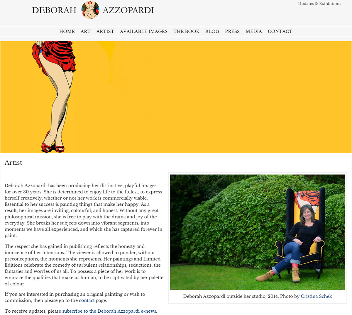 Deborah Azzopardi, website photography by Cristina Schek