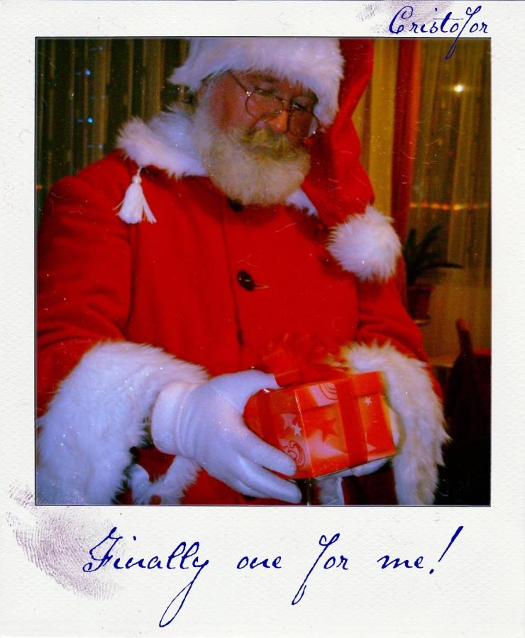 Santa, plaroid by Cristina Schek