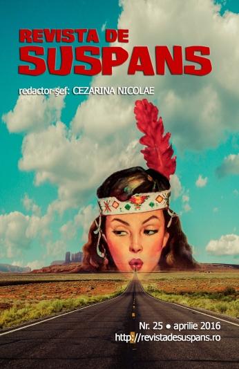 Suspense Review Magazine Issue 25, April 2016, cover design by Cristina Schek (cristinaschek.com)