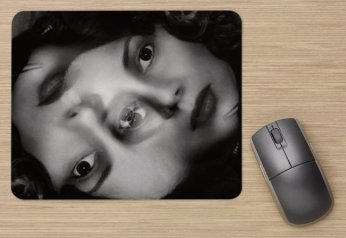 DoppelgangGirl, Art Mouse Pad by Cristina Schek 1