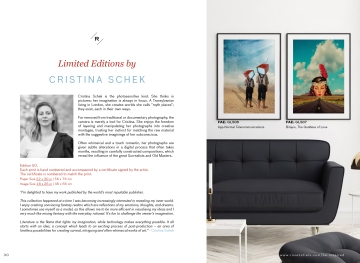 Rosenstiels_Be_Inspired_Escapism, Cristina Schek Feature (left page)